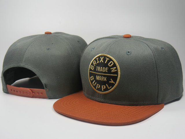 Brixton Grey Snapbacks Hat LS 1