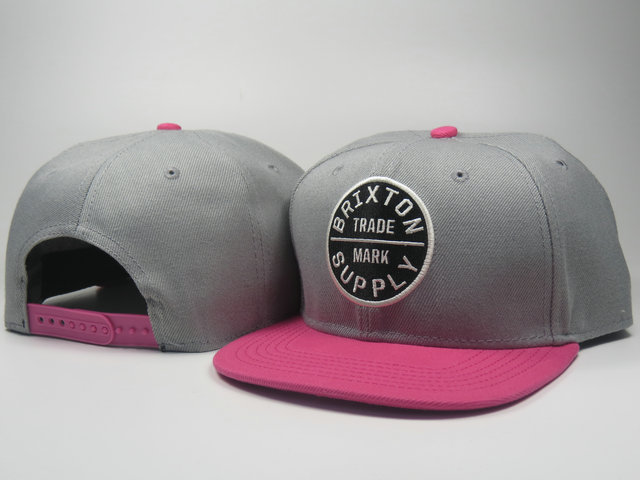 Brixton Grey Snapbacks Hat LS