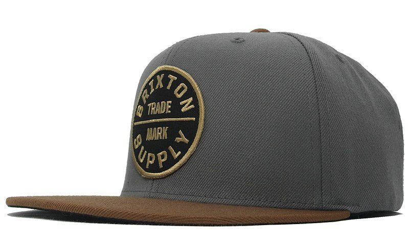 Brixton Grey Snapbacks Hat GF 1