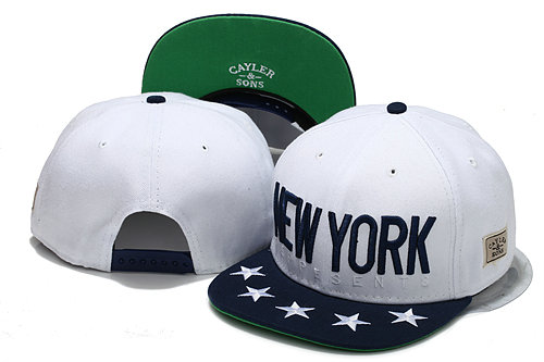 CAYLER & SONS White Snapbacks Hat YS