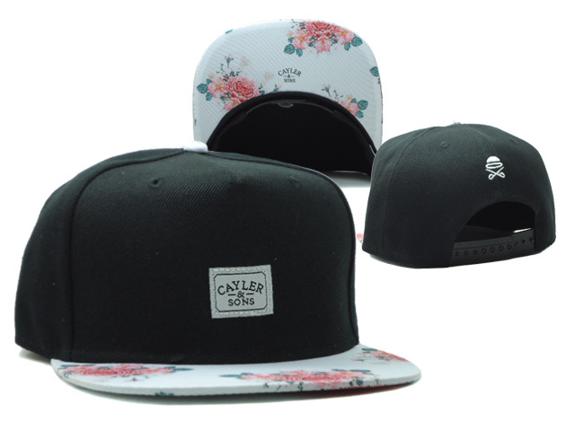 CAYLER & SONS Black Snapbacks Hat SF 0528