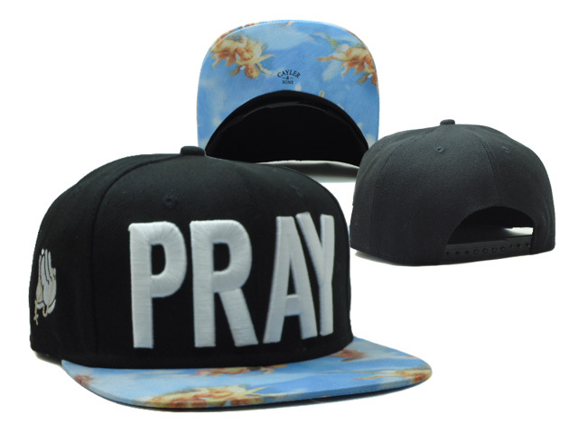 CAYLER & SONS PRAY Black Snapbacks Hat SF 0528