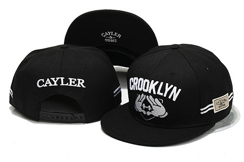 CAYLER & SONS Black Snapback Hat YS 5