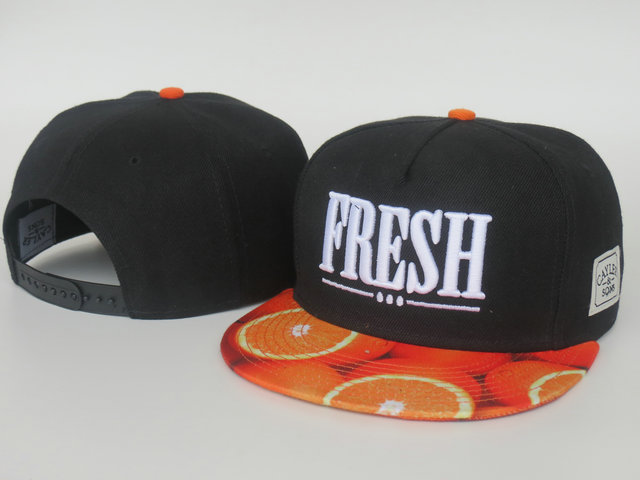 CAYLER & SONS Fresh Black Snapback Hat LS 0512