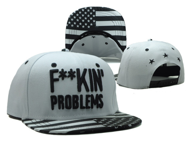 CAYLER & SONS Fuck In Problems White Snapback Hat SF 0512