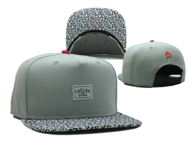 CAYLER & SONS Grey Snapback Hat SF 0512