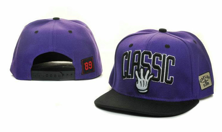 CAYLER & SONS Purple Snapback Hat GF