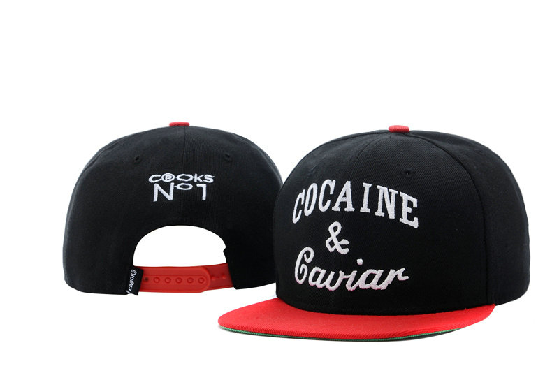 COCAINE & Caviar Black Snapback Hat TY 0721