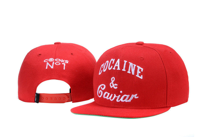 COCAINE & Caviar Red Snapback Hat TY 0721