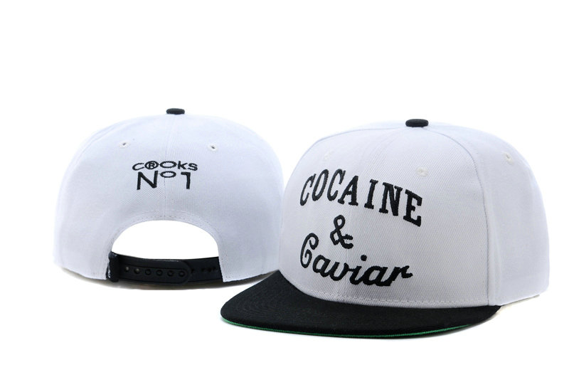 COCAINE & Caviar White Snapback Hat TY 0721