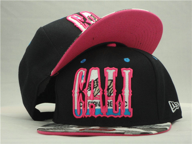 California Republic Black Snapback Hat ZY