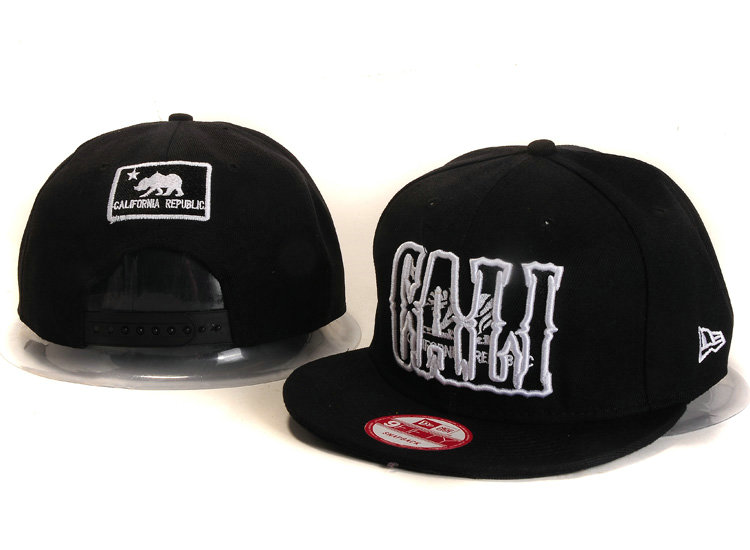 Califomia Republic Collection Black Snapback Hat YS 1