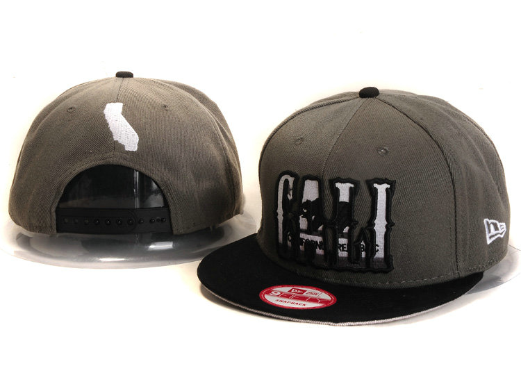Califomia Republic Collection Grey Snapback Hat YS 2