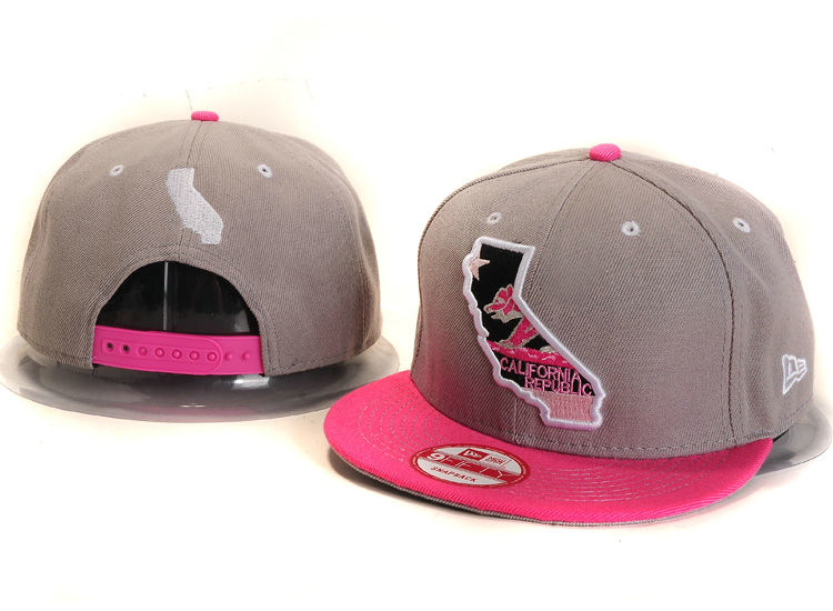 Califomia Republic Collection Grey Snapback Hat YS 3