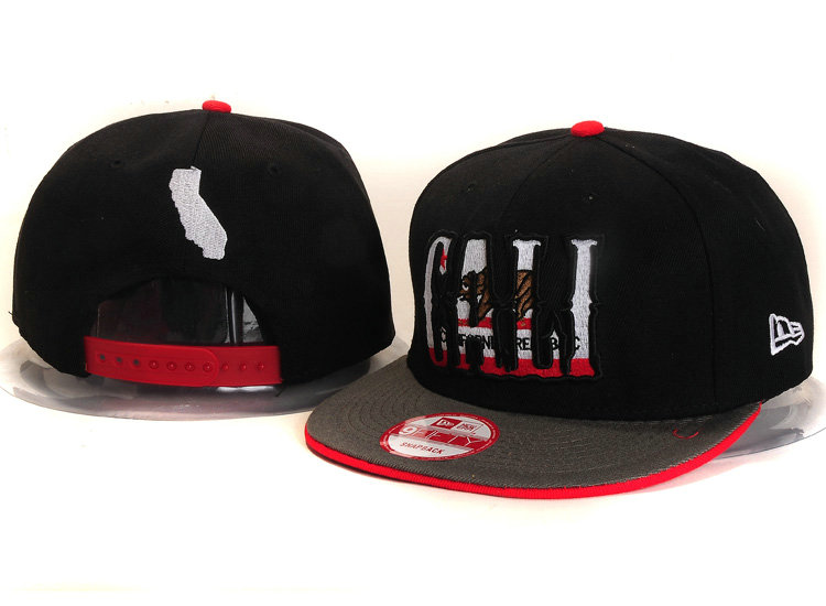 Califomia Republic Collection Black Snapback Hat YS