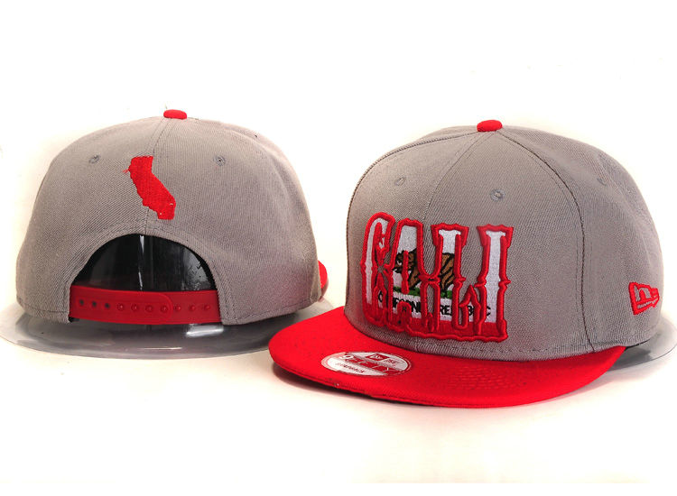 Califomia Republic Collection Grey Snapback Hat YS 1