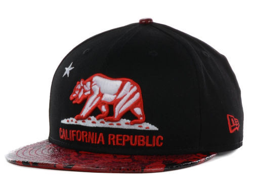 Califomia Republic Black Snapback Hat GF 2