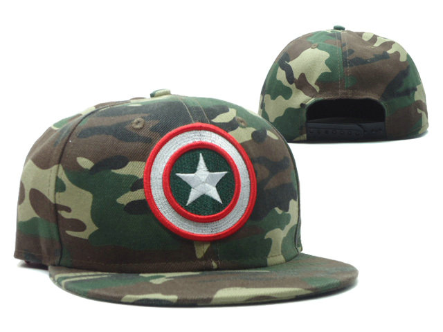 Cartoon Camo Snapback Hat SF