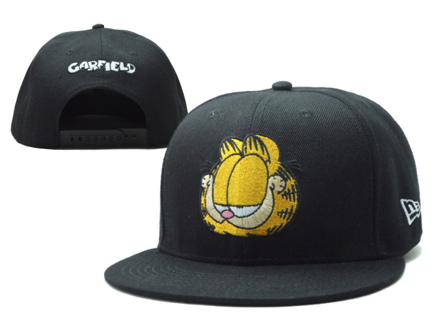 Cartoon Black Snapback Hat SF 0606