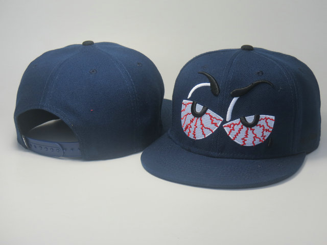 Cartoon Blue Snapback Hat LS 0613