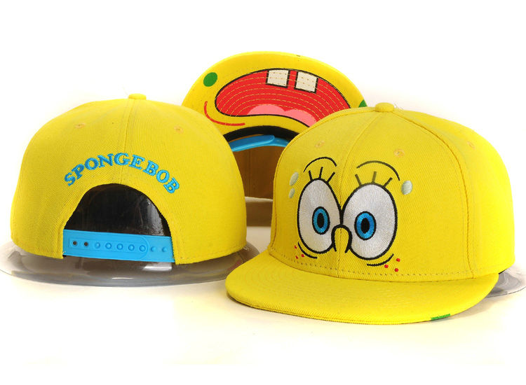Cartoon Yellow Snapback Hat YS