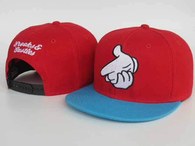 Crooks and Castles Red Snapbacks Hat LS 1