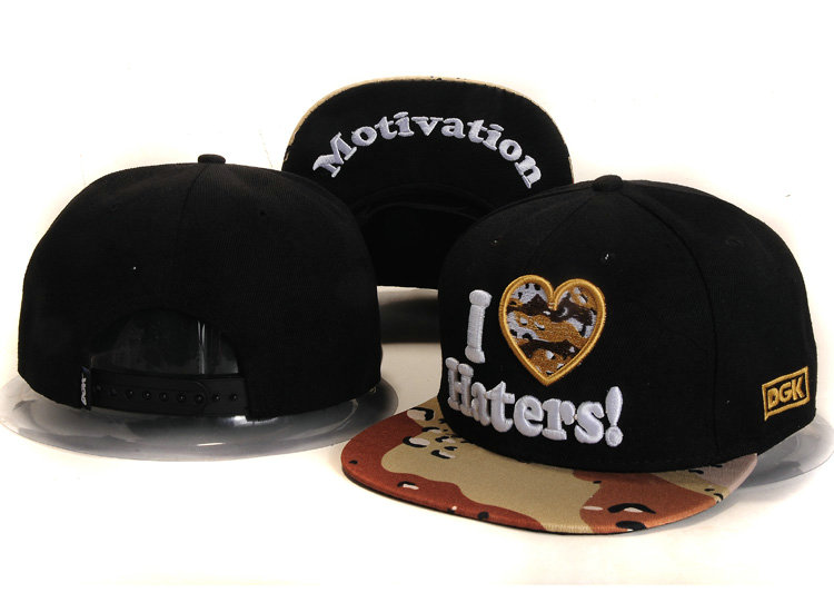 DGK Black Snapbacks Hat YS