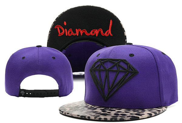 Diamond Purple Snapback Hat XDF