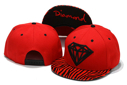 Diamonds Supply Co Red Snapbacks Hat YS