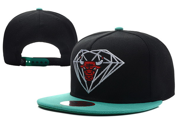 Diamond Bull Black Snapback Hat XDF 1 0528