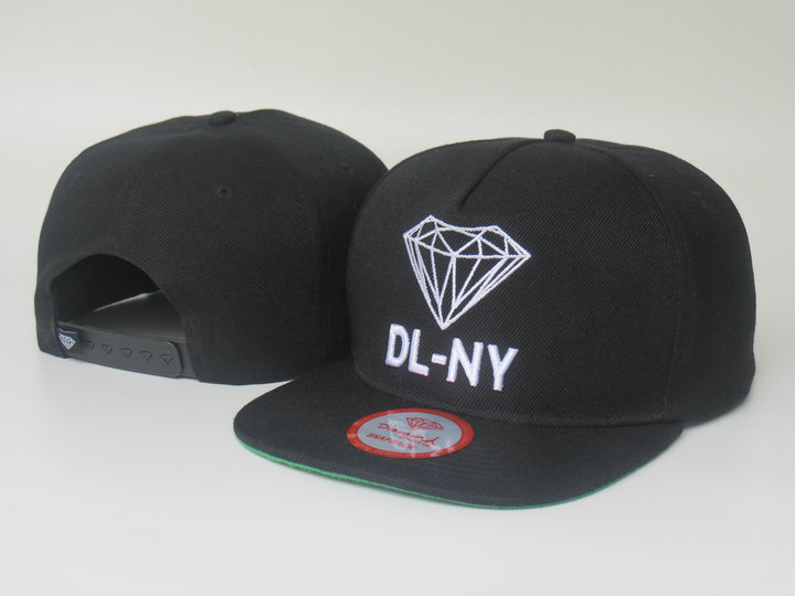 Diamonds Supply Co. Black Snapback Hat LS