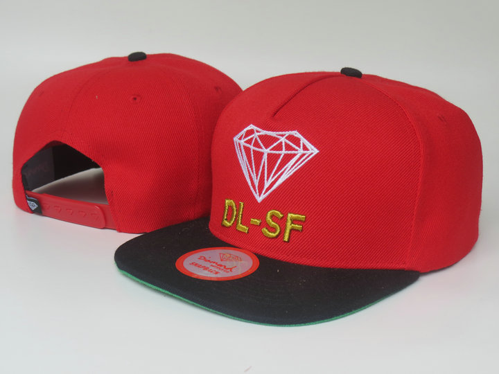 Diamonds Supply Co. Red Snapback Hat LS