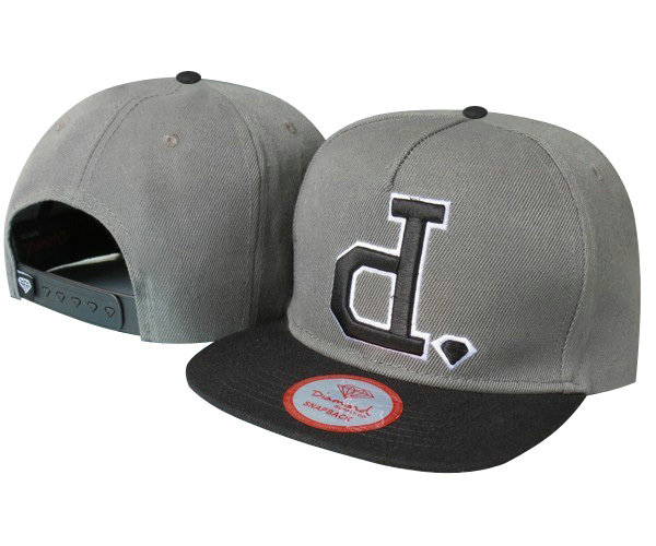 DIAMOND SUPRELY.CO Grey Snapback Hat TY