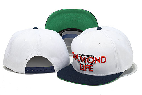 Diamonds Supply Co White Snapback Hat YS