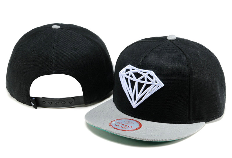 Diamonds Supply Co. Black Snapback Hat TY 1