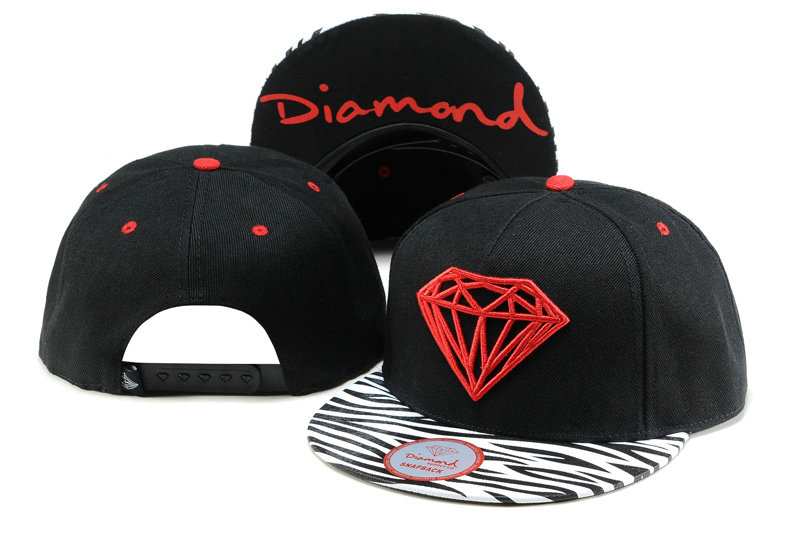 Diamonds Supply Co. Black Snapback Hat TY 2