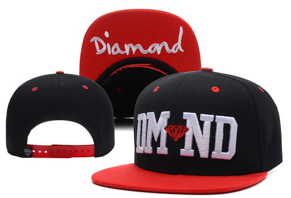 Diamond Black Snapback Hat XDF 1 0617
