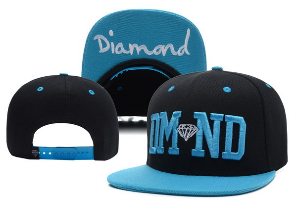 Diamond Black Snapback Hat XDF 0617