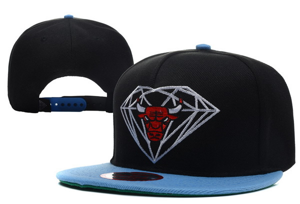Diamond Bull Black Snapback Hat XDF 0512