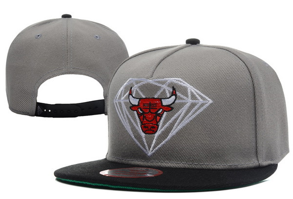 Diamond Bull Grey Snapback Hat XDF 0512