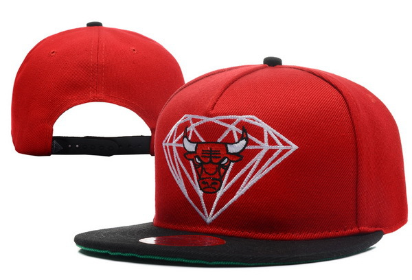 Diamond Bull Red Snapback Hat XDF 0512