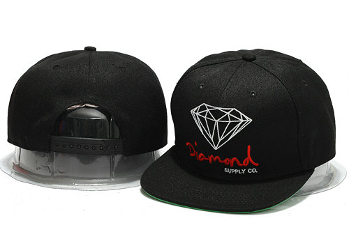 Diamond Black Snapback Hat YS 0701