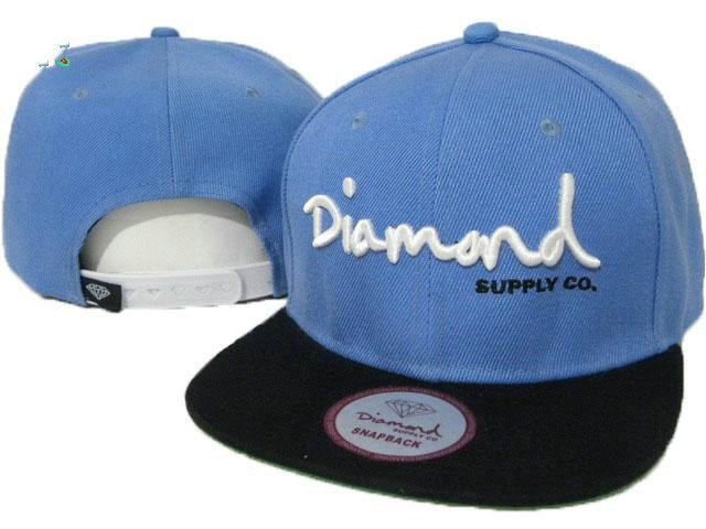 Diamond Supply Co Blue Snapback Hat GF