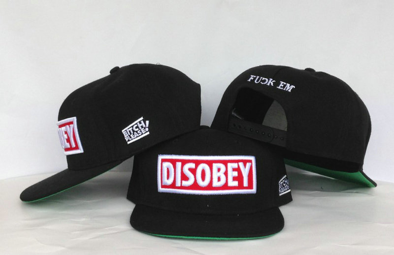 Disobey Black Snapback Hat GF 2
