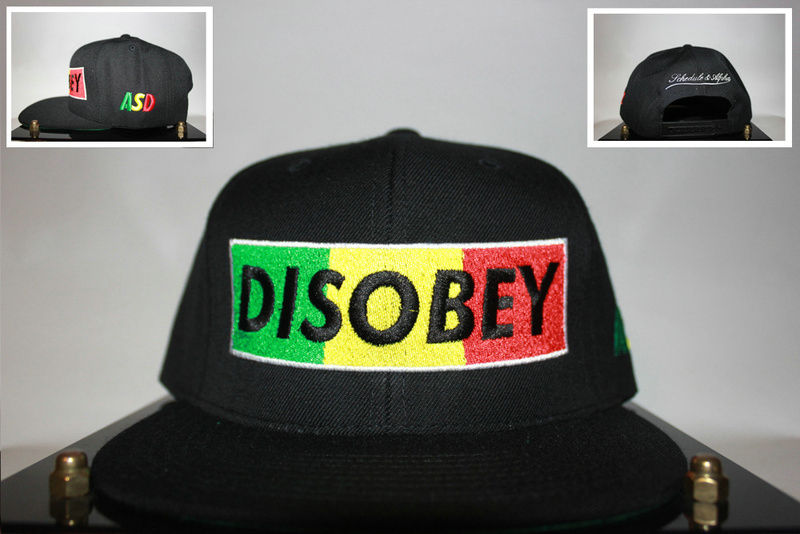 Disobey Black Snapback Hat GF