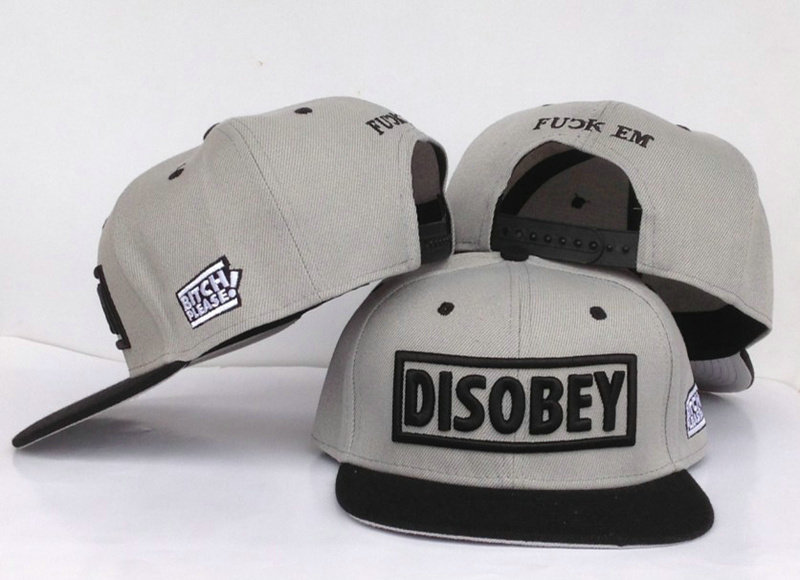 Disobey Grey Snapback Hat GF
