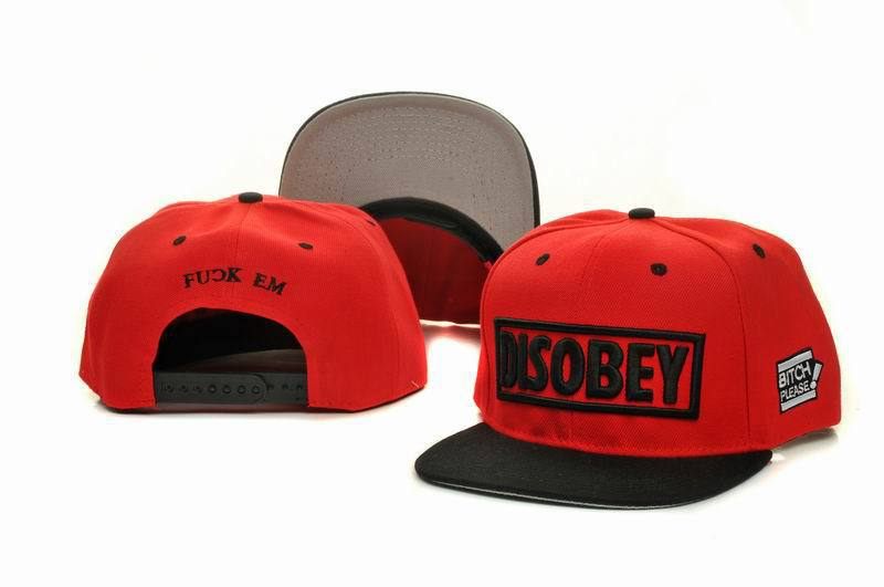 Disobey Red Snapback Hat GF 1