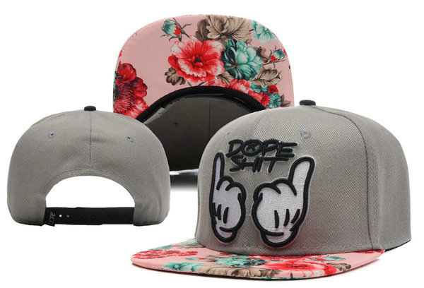 Dope Shit Floral Grey Snapback Hat XDF 0528