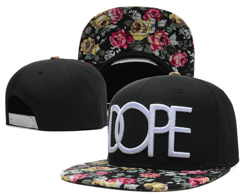 Dope Black Snapback Hat SD 1