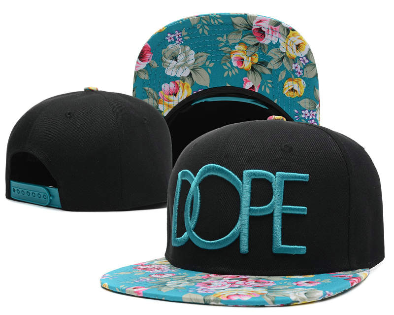 Dope Black Snapback Hat SD 2